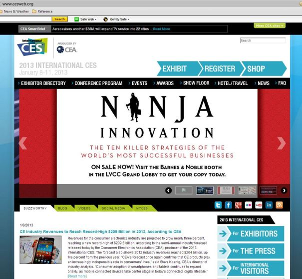 CES 2013 Home Page