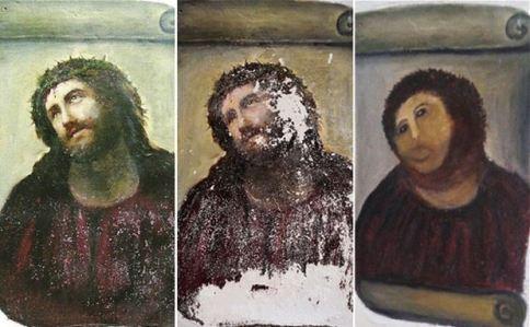 Ecce homo church painting bungled